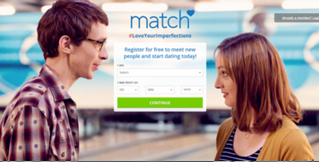 Match sign up for free
